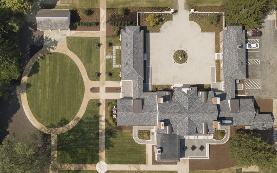 Aerial view of Meshewa House