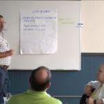 Matt Hess leads a Leadership Academy session