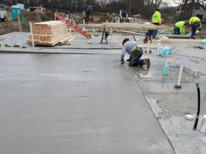 concrete pour at Maple Knoll Village