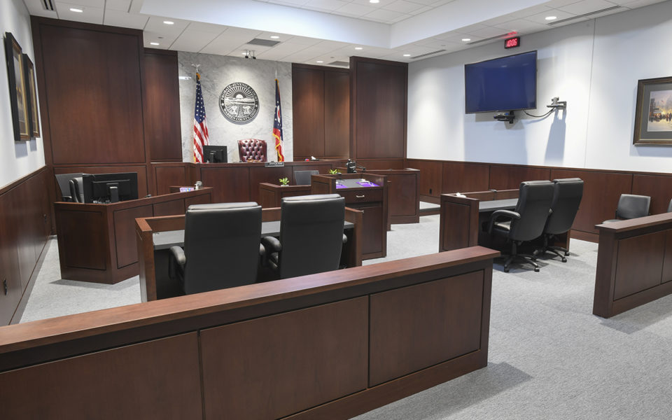 Interior of courtroom at Warren County Probate and Juvenile Court