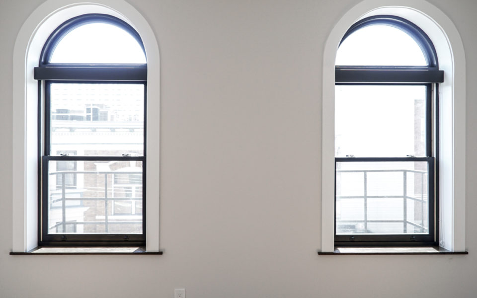 Two historic windows in Columbia Flats