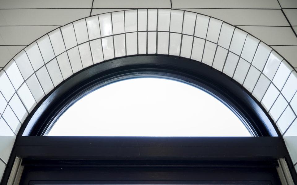 tile detailing on window frame