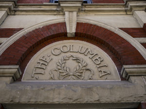 historic stone work of Columbia Building