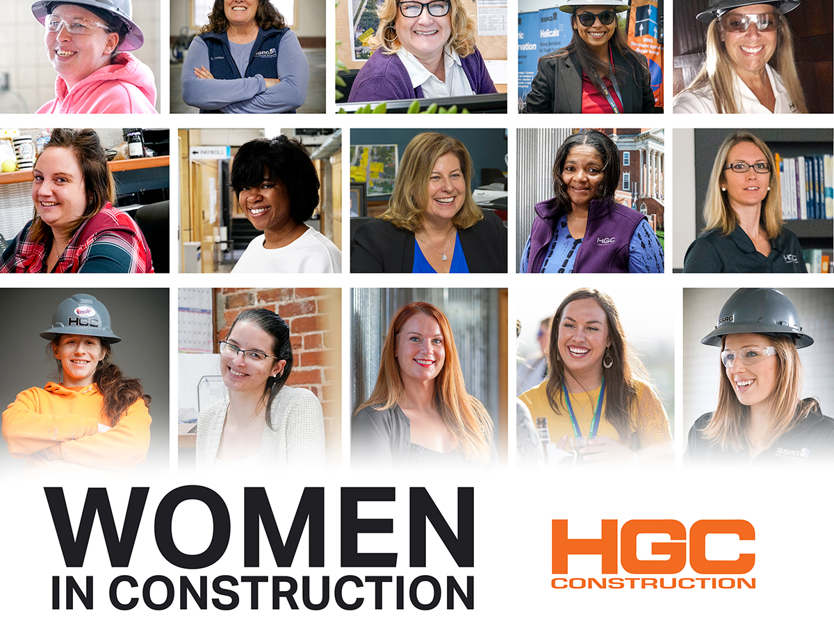 collage of HGC women in construction for WIC Week 2020