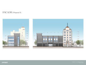 rendering of the renovated Fidelity Building in Norwood