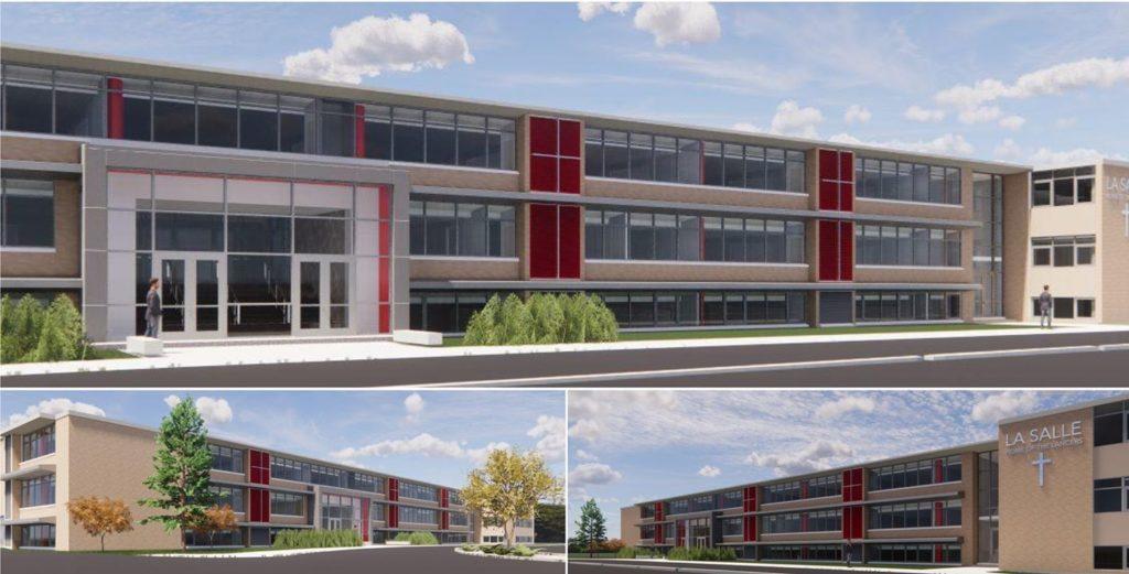 rendering of exterior of renovated LaSalle High School