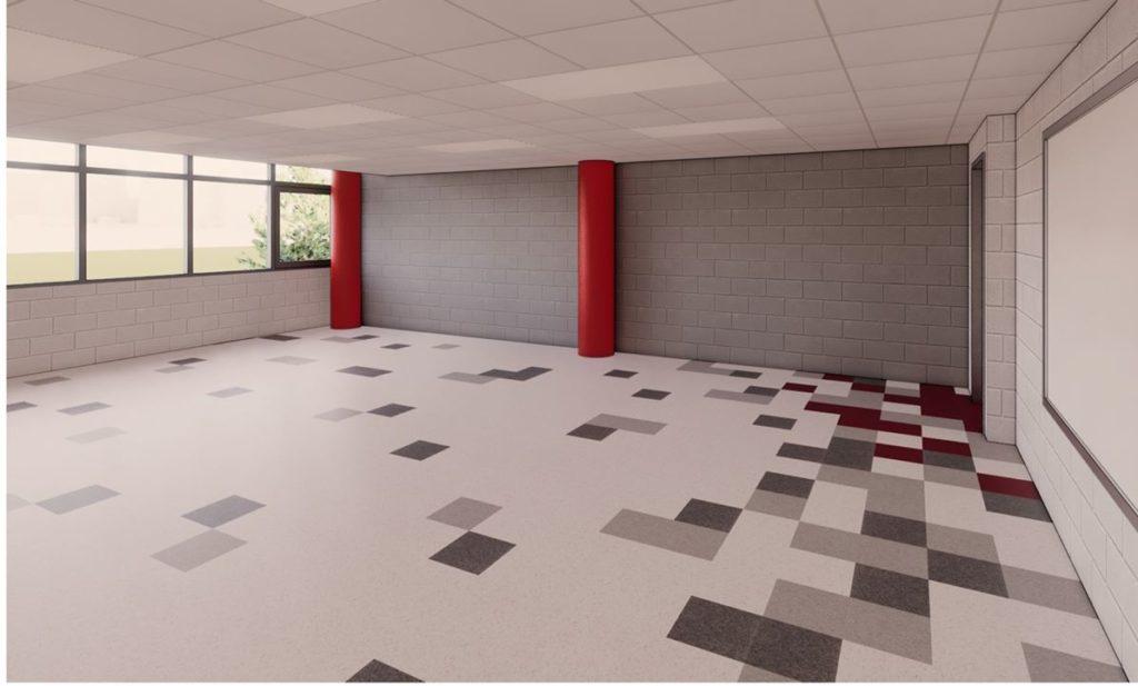 rendering of interior of renovated LaSalle high school