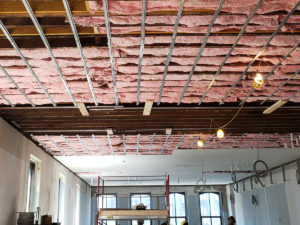 Ceiling insulation at Grady Hotel
