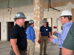 Jake Suer on site at Ingalls Building