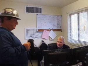 Jake Suer in office at Seven Hills School