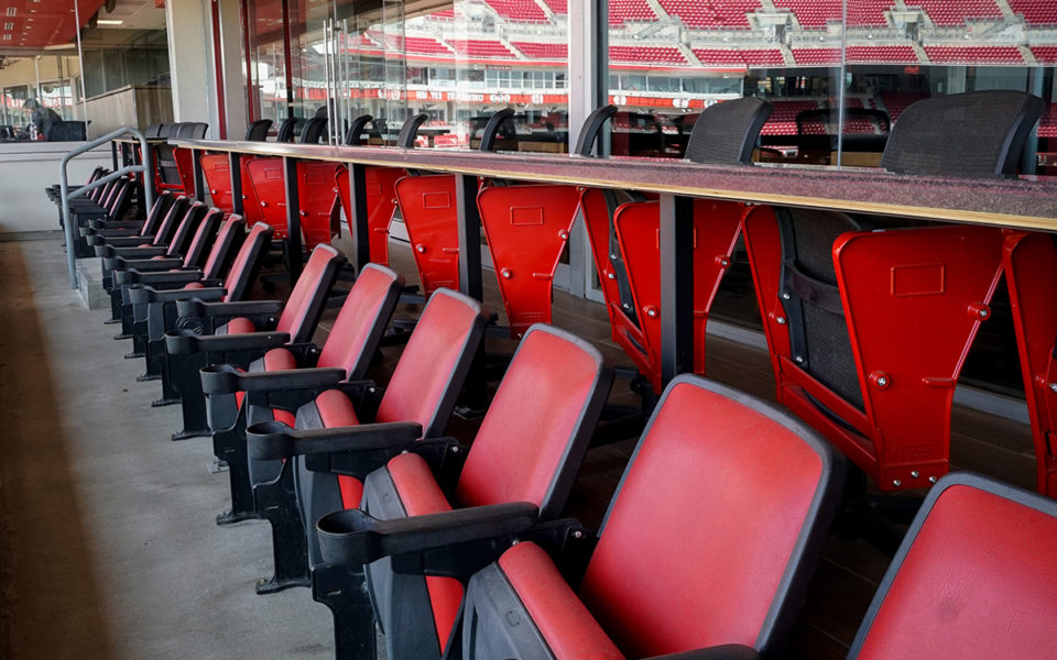 Exterior seats in new Executive Super Suite at Great American Ball Park