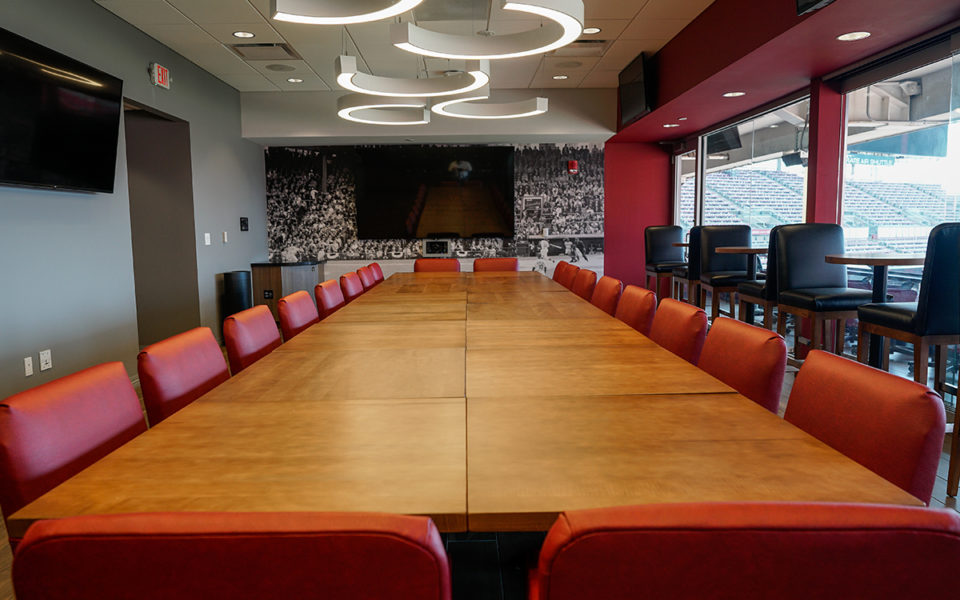 Large conference table in new Executive Super Suite at Great American Ball Park