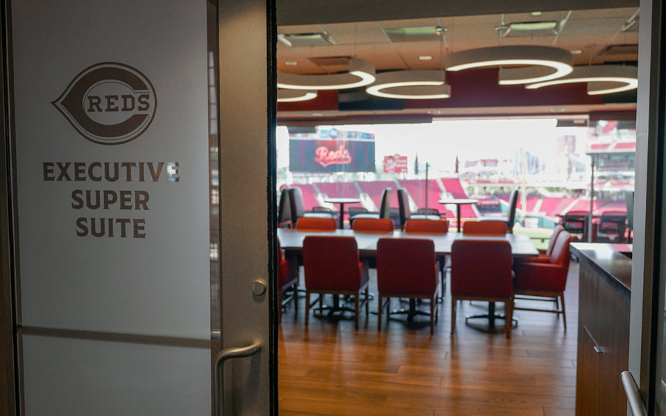 Entrance in new Executive Super Suite at Great American Ball Park
