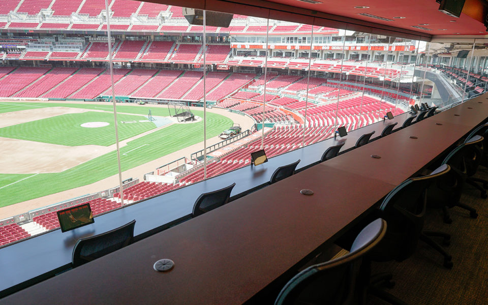 view from new Press Box at Great American Ball Park