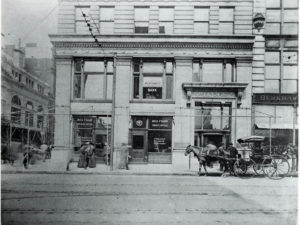 historic image of Ingalls building, street level