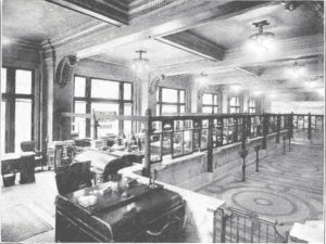 historic image of Ingalls building interior