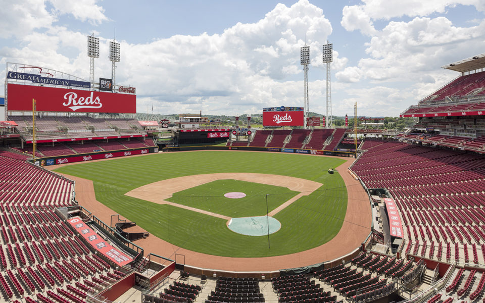 View from Boone County Bourbon Press Club at Great American Ball Park