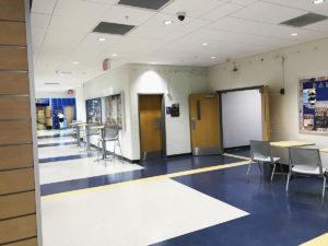 renovated corridors at Madeira High School