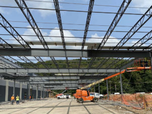 Canopy construction for last-mile delivery station for e-commerce giant in Cincinnati