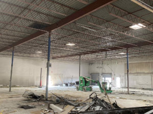 demo for e-commerce warehouse fit-out in Columbus