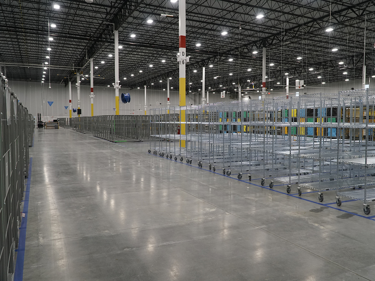 completed quick renovations for last-mile delivery station for e-commerce giant in Cincinnati