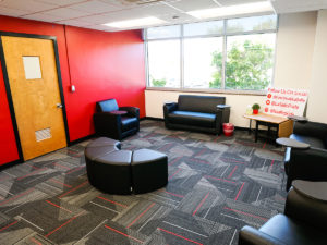 Updated administrative spaces in Lasalle High School