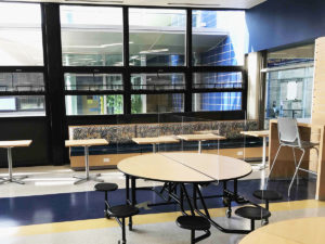renovated cafeteria at Madeira High school