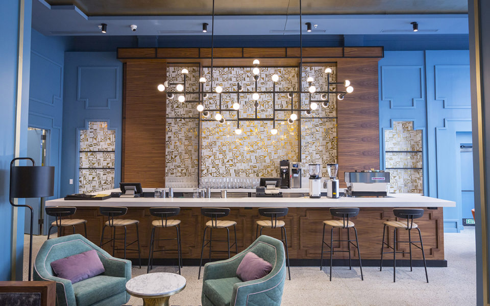 The Exchange, a coffee and liquor bar at The Kinley hotel