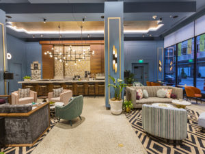 The Exchange, the coffee and liquor bar in the Kinley Hotel