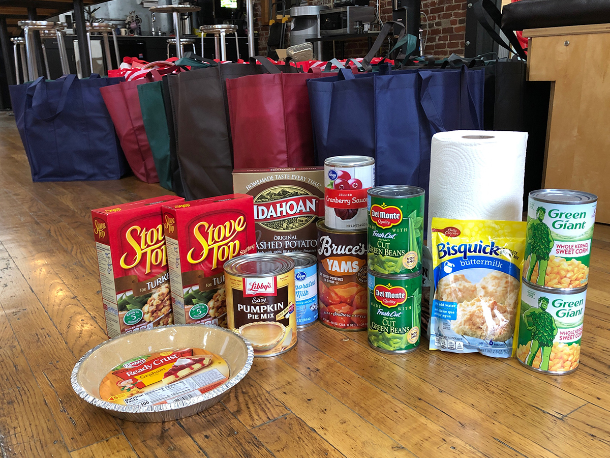 Meal in a bag, part of food drive for Talbert House families to build community this holiday season