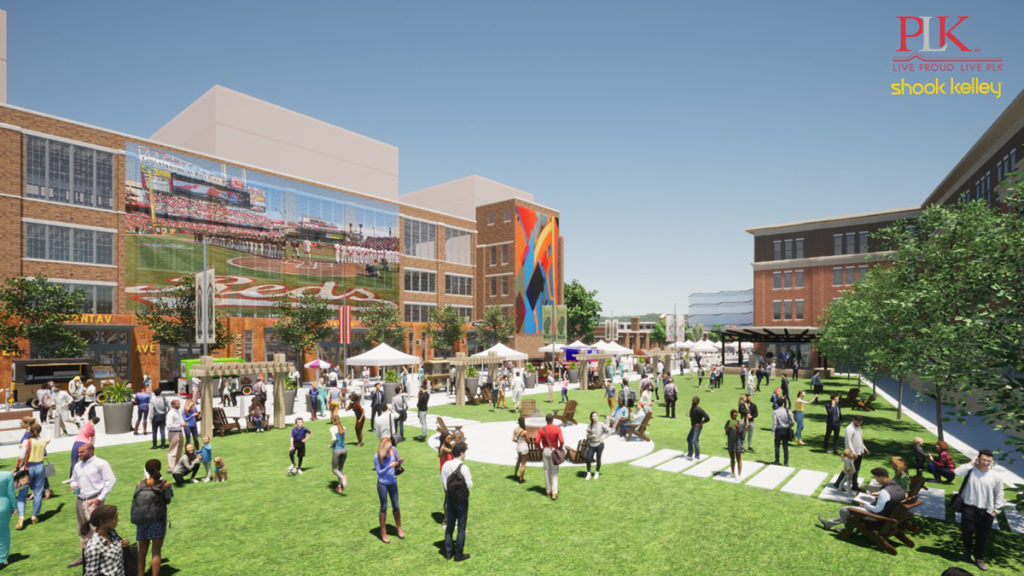 rendering of community spaces at Factory 52