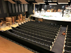 renovated auditorium at Madeira High School