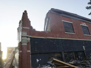 Demolition of the former Sudsy Malone's