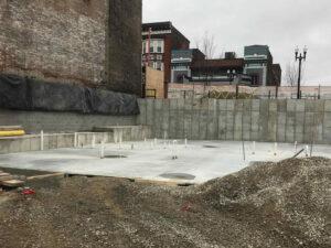 concrete foundation at Short Vine