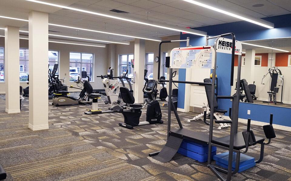 new gym at Twin Lakes