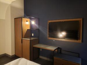 mock-up of guest room furniture