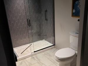 mock-up bathroom
