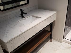 bathroom vanity of mock-up room
