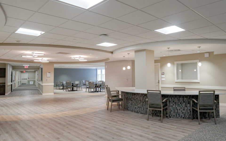 interior of common areas at Twin Lakes