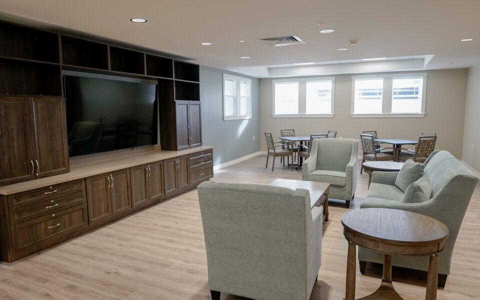 interior of gathering spaces at Twin Lakes