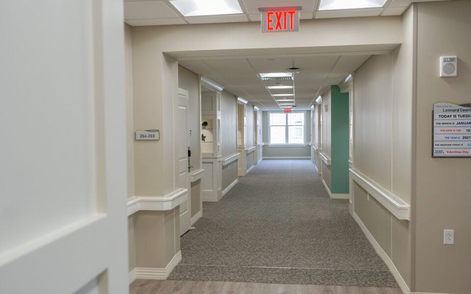 Interior of Twin Lakes Memory Services hallway