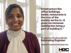 portrait of Prasanna Rudravajhala for Women in Construction Week 2021