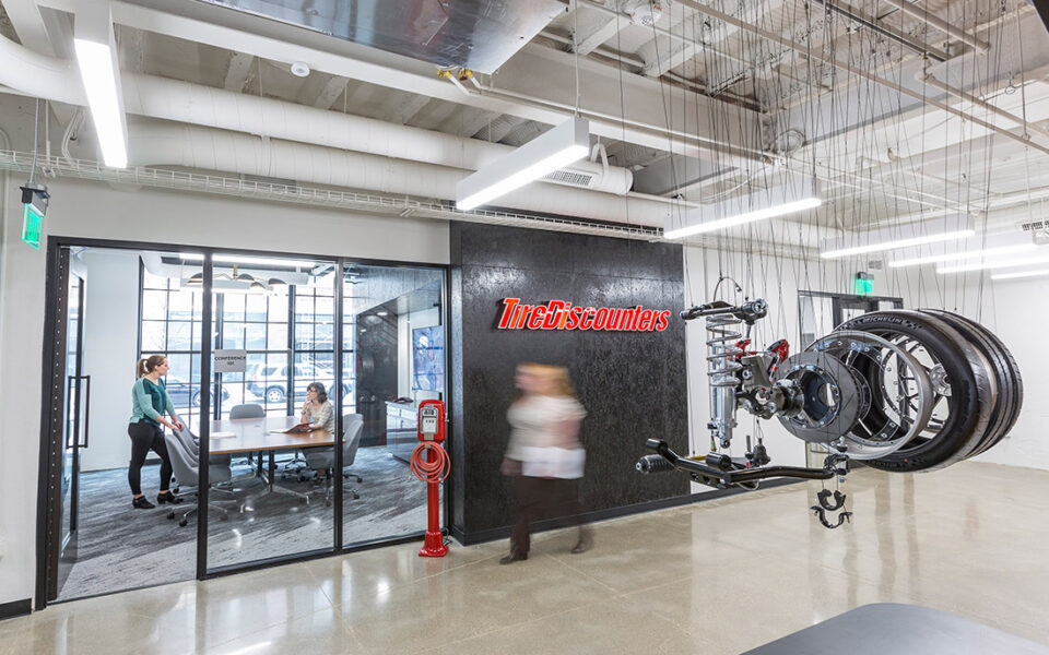 interior main are of Tire Discounters home office
