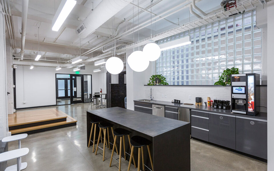 kitchen area in corporate office
