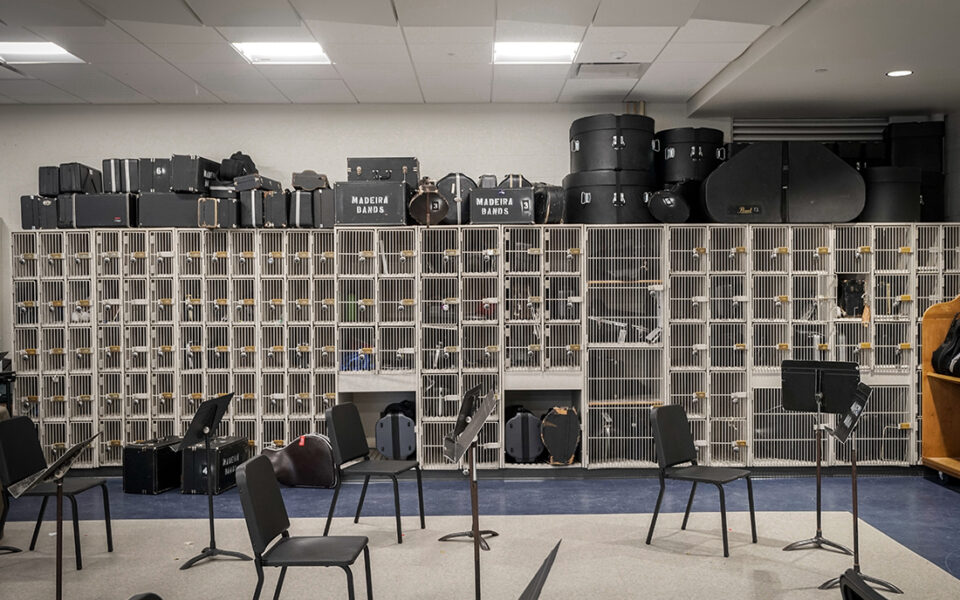 band room lockers as part of madeira high school addition