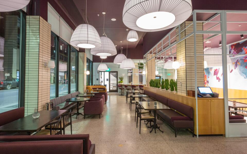 Interior of Khora Restaurant built by HGC Construction