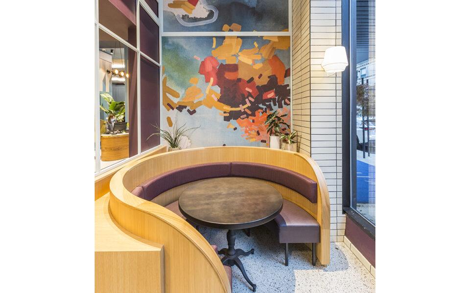 Unique seating at The Khora restaurant