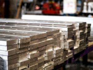 close up of lumber in stacks