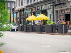 A parklet in downtown Cincinnati