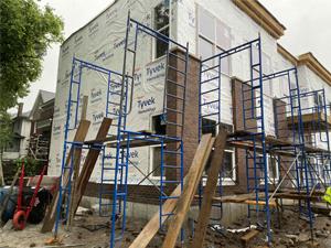 new masonry work going up